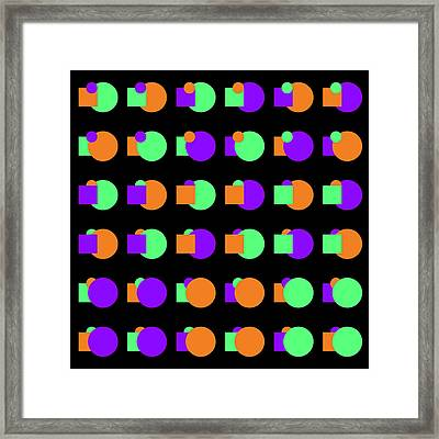 270 Circle And Square - Phi Framed Print