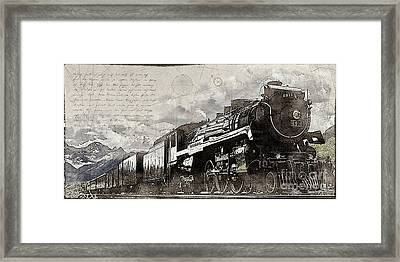 2816 At Banff Siding Framed Print