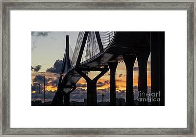 Framed Print featuring the photograph 1812 Constitution Bridge Cadiz Spain by Pablo Avanzini