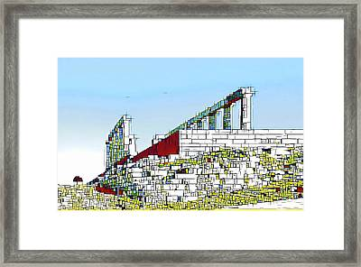 Abstract Of The Temple Of Poseidon Framed Print