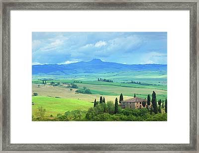 Farm In Tuscany Framed Print by Mammuth