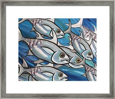 3 Fish Framed Print