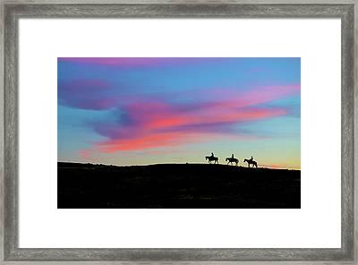3 Horsemen Framed Print