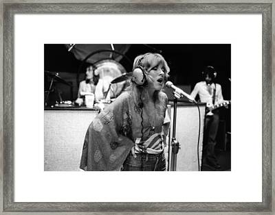 Photo Of Stevie Nicks And Fleetwood Mac Framed Print by Fin Costello
