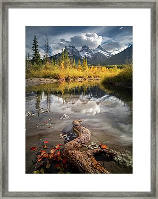 Framed Print featuring the photograph 3 Sisters Delight / Canmore / Alberta, Canada by Nicholas Parker