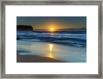 Sunrise Lights Up The Sea Framed Print