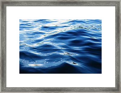 The Ocean View From The Coast At Big Framed Print