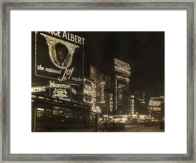 Times Square Framed Print by Edwin Levick