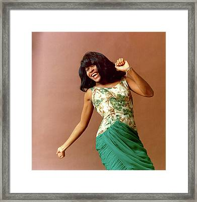 Tina Turner Portrait Session Framed Print by Michael Ochs Archives