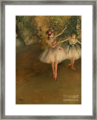 Two Dancers On A Stage Framed Print