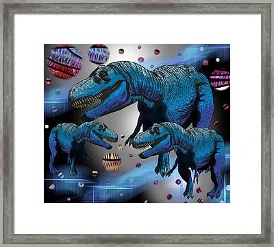 Tyrannosaurus Three Moons Framed Print
