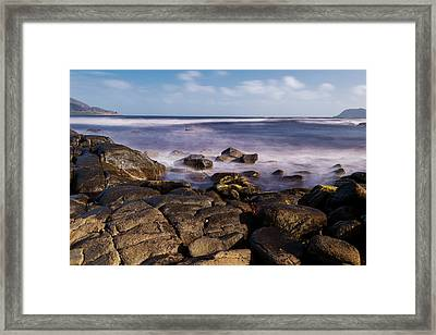 Framed Print featuring the photograph View Of Cloudy Bay In Bruny Island, Tasmania, Australia. by Rob D