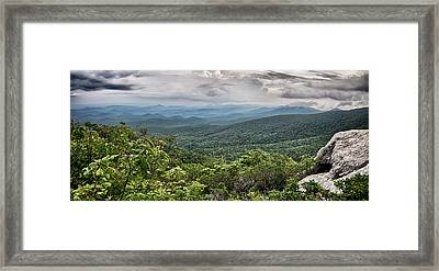 Framed Print featuring the photograph Rough Ridge Overlook Viewing Area Off Blue Ridge Parkway Scenery by Alex Grichenko
