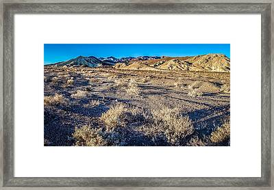 Framed Print featuring the photograph Death Valley National Park Scenes In California by Alex Grichenko