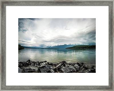 Framed Print featuring the photograph Scenery Around Lake Jocasse Gorge by Alex Grichenko