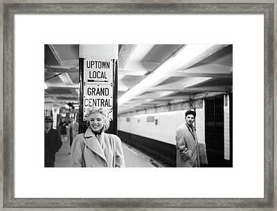Marilyn In Grand Central Station Framed Print