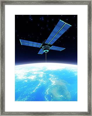 Space Elevator, Artwork Framed Print by Victor Habbick Visions