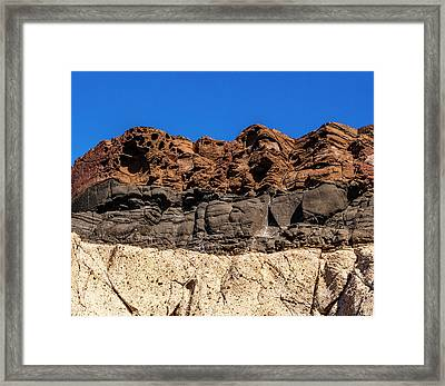 4 Textures 4 Colors Framed Print