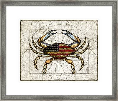 4th Of July Crab Framed Print