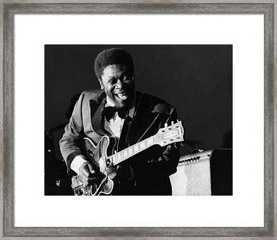 Photo Of Bb King Framed Print by David Redfern