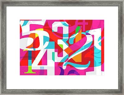 54321 Framed Print
