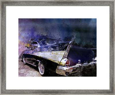 57 Belair Dragon Drivein Date Night Saturday Night Framed Print