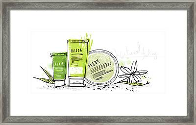 Cosmetics Framed Print by Eastnine Inc.