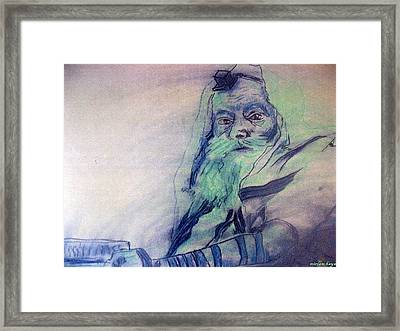 Lubavitcher Rebbe Framed Print by Miriam haya Elbaz