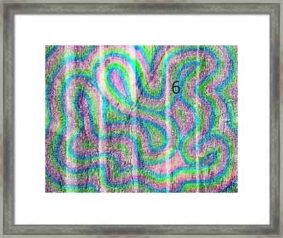 #6 Sidewalk Framed Print