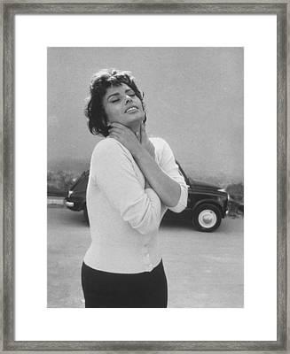 Sophia Loren Framed Print by Loomis Dean