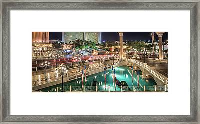 Framed Print featuring the photograph View Of The Venetian Hotel Resort And Casino by Alex Grichenko