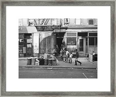 625 East Fifth Street, 1967 Framed Print by Fred W. McDarrah