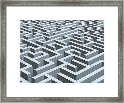 Maze, Artwork Framed Print by Pasieka