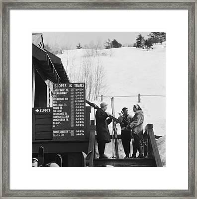 New England Skiing Framed Print