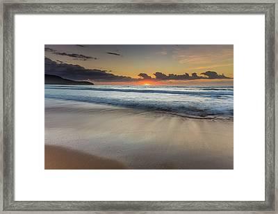 Sunrise Beach Seascape Framed Print