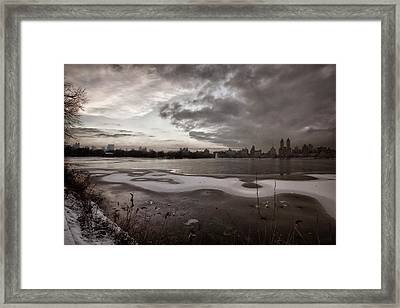 Sunset And Early Evening Nyc Framed Print
