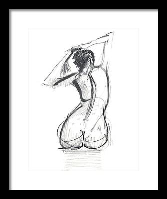 Sexy Woman Framed Prints