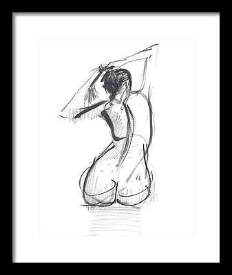 Nude Female Framed Prints