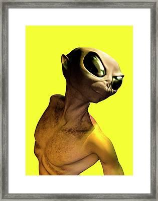 Alien, Artwork Framed Print by Victor Habbick Visions