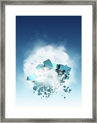 Cloud Computing, Conceptual Artwork Framed Print by Victor Habbick Visions