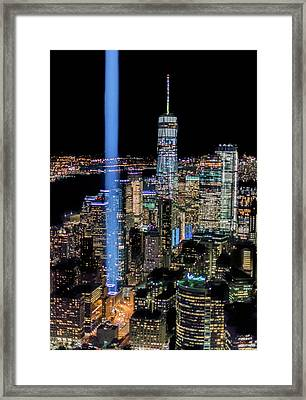 Framed Print featuring the photograph 911 Lights by Francisco Gomez
