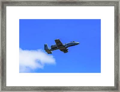 A-10c Thunderbolt II In Flight Framed Print
