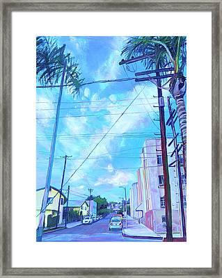A Blue Day Framed Print