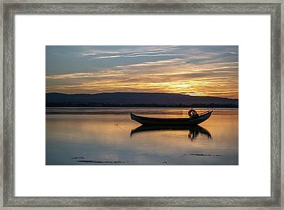 Framed Print featuring the photograph A Boat by Bruno Rosa