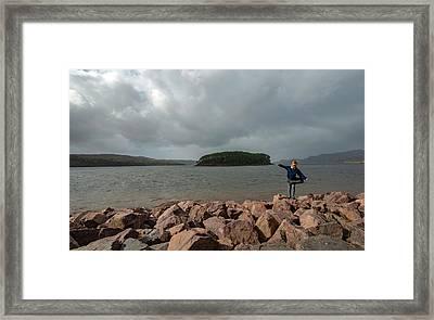 A Charming Little Girl In The Isle Of Skye 1 Framed Print