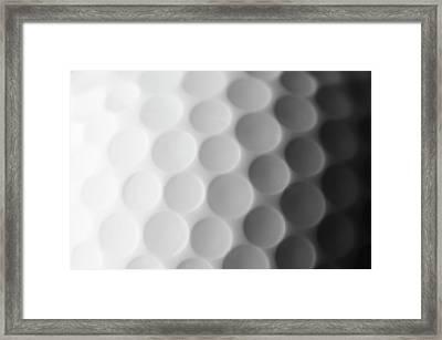 A Close Up Shot Of A Golf Ball, White Framed Print