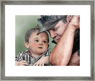 A Conversation With Daddy  Framed Print