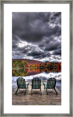 Framed Print featuring the photograph A Fall Day On West Lake by David Patterson