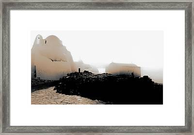 A Foggy Day In Mykonos Framed Print