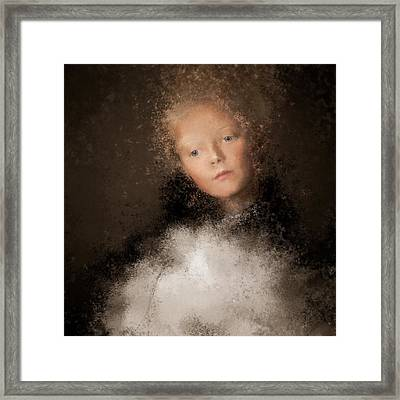 A Girl With The Hand Fan Framed Print
